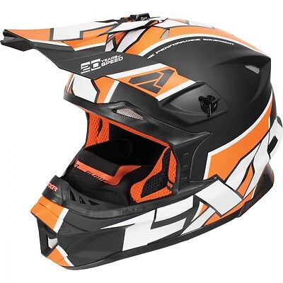 FXR Blade Clutch Helmet Orange White MEDIUM