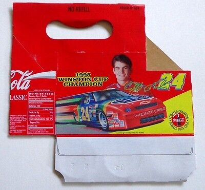 Two Different Coca-Cola 6-Pack Cartons Featuring Jeff Gordon