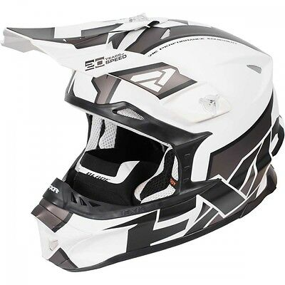 FXR Blade Clutch Helmet White Charcoal Black Large