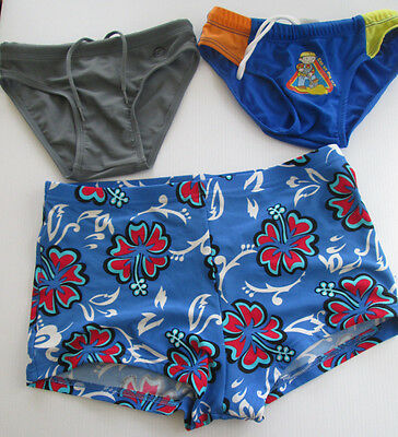 Vintage Boys Swimwear Swimmers Swim Trunks Wave Zone x 3 Pieces