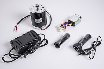 500W 36V electric 1020 motor kit w speed control Throttle & charger f scooter MX