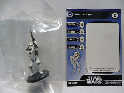 SandTrooper,Champions Of The Force 50/60 Star Wars Miniatures COTF