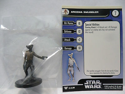 Arcona Smuggler,Champions Of The Force 55/60 Star Wars Miniatures COTF