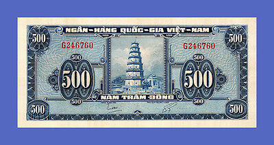 """VIETNAM SOUTH - 500 DONG """"THIEN MU TEMPLE"""" 1955s  - Reproductions"""