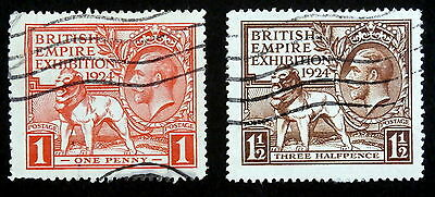 GB - 1924, Scott #185-86, Used (British Empire Exhibition)