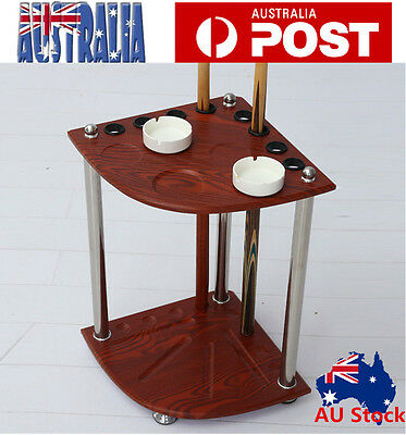 Billiard Corner Cue Stand Rach With Ashtray Ball Rest Stand AU Stock