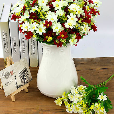 1 Bunch Bouquet Art Artificial Party Wedding Fake  Flower Home Daisy Decoration