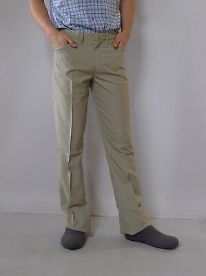 Vintage retro true 1960s unused M 33L mens green Mod slacks pants Jetliner tags