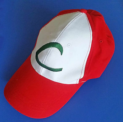 NEW Pokemon GO Cap Hat Ash Ketchum Costume Cosplay Embroidery Trainer