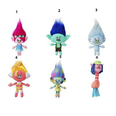 "DreamWorks Trolls Soft Plush Dolls size 11"" (28 cm) One of Six different"