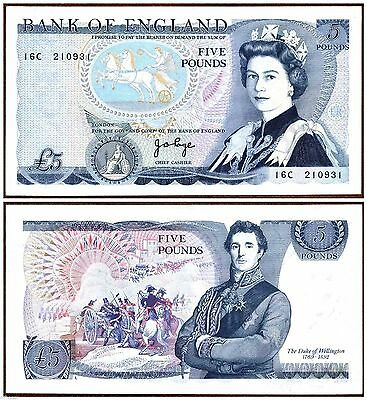 Great Britain - ND 1971-1972 Five (5) Pound. P.378a. AUNC Banknote