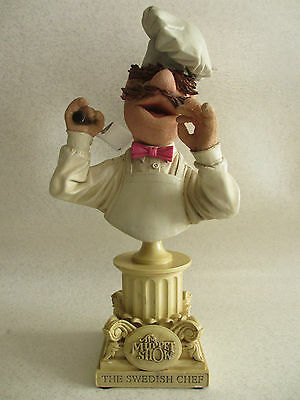 RARE SIDESHOW POLYSTONE BUST - THE MUPPET SHOW - THE SWEDISH CHEF 734/5000 25cm