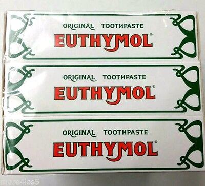3 X 75ml Euthymol Original Toothpaste  Expired  date Oct 2016 CHEAP TO BUY £3.99