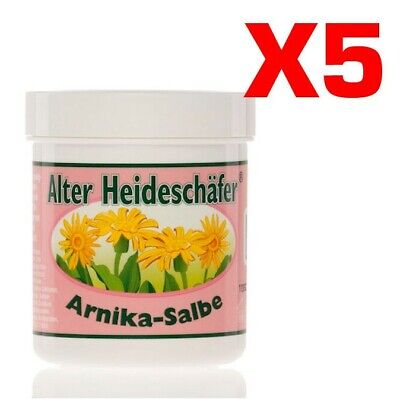 ALTER HEIDESCHAFER ARNIKA-SALBE 5x250 ml Crema Pomata all' Arnica Mal di Schiena