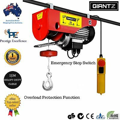 Garage Electric Hoist Winch Rope Lifting Tool Industrial Workshop Remote New 240