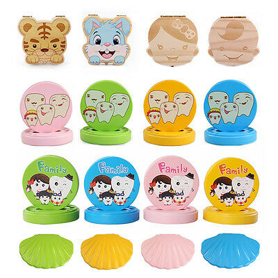 Tooth Organizer for Baby Save Milk Teeth Wood Storage Box for Kids Boy&Girl Gift