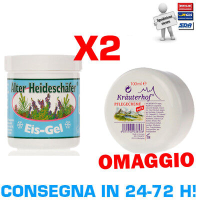 ALTER HEIDESCHAFER EIS-GEL 2x250 ml Crema Pomata al Mentolo effetto ghiaccio Ice