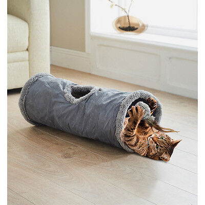 New Luxury Intant Pop Up Cat / kitten play Tunnel With Feather Teaser Toy