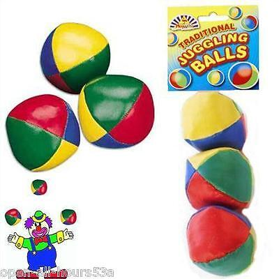 Learn to Juggle Set of 3 x Coloured Juggling Balls New