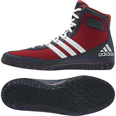 Adidas Mat Wizard 3 Scarlet Coll Navy Boxing Boots Wrestling Shoes Trainers