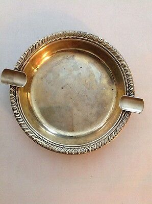 Stamped Antique Sterling silver ashtray 1116-4