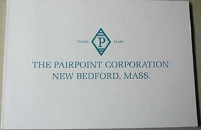 Pairpoint Engraved, American Brilliant Cut Glass & Sterling catalog booklet