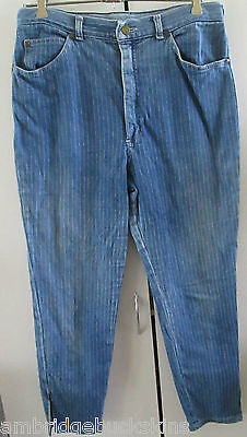 Vintage Lee Cooper Denim Jeans Size 16 Pin Stripe Designed to Fade