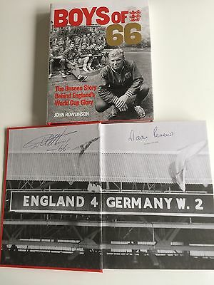 Boys Of 66 Book Signed Geoff Hurst Martin Peters England 1966 World Cup - Proof