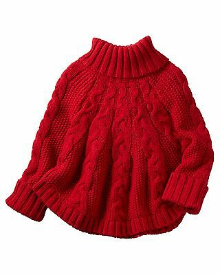 Carter's   Girls' Poncho Turtleneck Sweater MSRP$32.00   4T, 5T