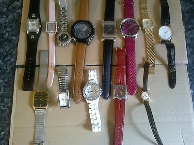 LADIES USED WRIST WATCHES x 13 ITEMS 8 WORKING 5 NOT WORKING