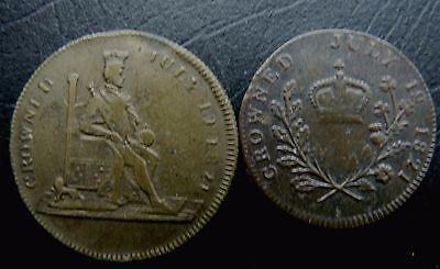 George 1V 2 X Different Medallions Crowned 1821