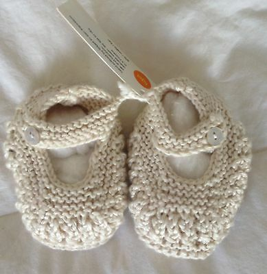 Hand Knitted Baby Booties Silk & Bamboo Booties NEW Newborn Booties