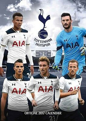 Tottenham Hotspur Official 2017 Calendar A3 Football Spurs