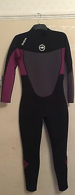 Women's Hot Tuna Wetsuit Colour Black/berry Size UK 14 (large) Only Worn Once