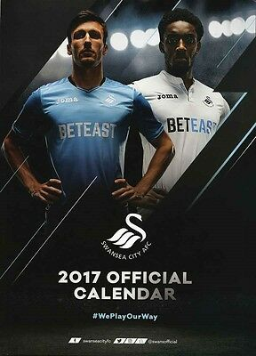 Swansea City Official 2017 Calendar A3 New and Sealed Swans
