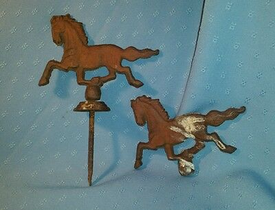 "Vintage Cast Iron Horses; 6"" long"