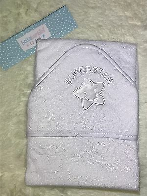 BRAND NEW Baby White Hooded Superstar Towel