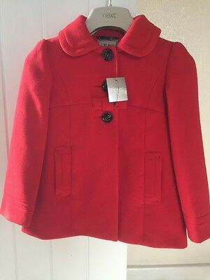 Next Girls Winter Coat/Jacket. Age 5-6. Ideal For Christmas Period! Brand New!