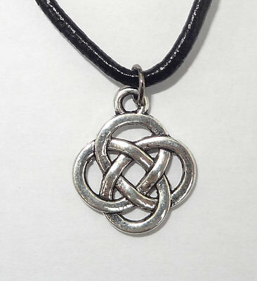 Celtic Knot silver/pewter coloured pendant, Wiccan, Pagan, Druid, Christmas Gift