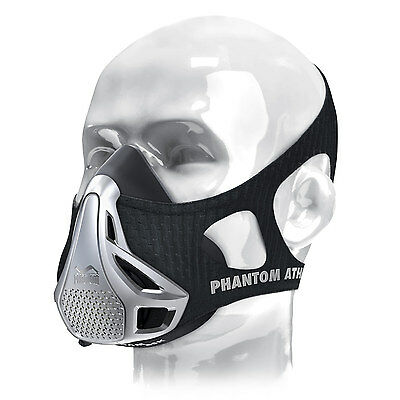 Phantom Trainingsmaske SILVER, Training Maske Ausdauertraining Höhentraining