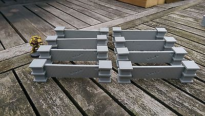 *SCENERY* 8 28-32mm scale walls - Ideal for 40K, Necromunda, Malifaux etc.
