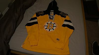 Boston Bruins Lacer Hooded Top Jersey - Size L - Official NHL Merchandise
