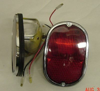 VW split bay bus type 2 1962-1971 tail light complete assembly new pair red lens