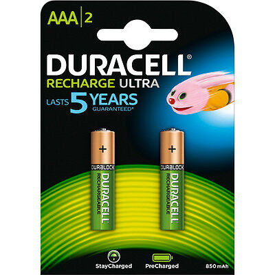 Duracell Blister 2 pile AAA Recharge Ultra