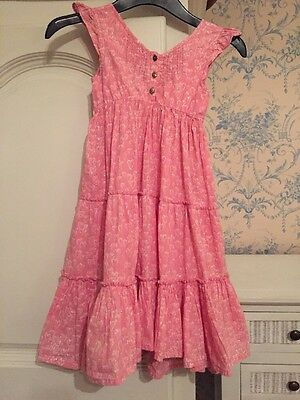 Next Summer Dress Pink Age 5