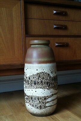 Huge Vintage West German Fat Lava Pottery Floor Vase
