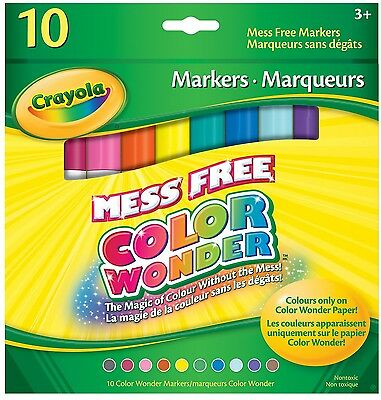 Crayola 10 Color Wonder Markers Classic