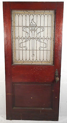 Large Vintage Victorian Stained Glass Door (2741)NJ