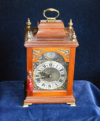 Antique Vintage Small Mahogany Georgian style Bracket Clock by Baronet of London
