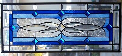 Stained Glass window hanging 28 X 11 3/4""